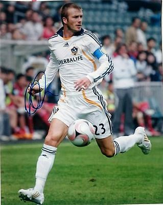 David Beckham Signed 11X14 Photo Fifa World Cup Soccer Manchester Real Madrid