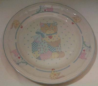 """Tienshan (China) Stoneware Calico Cat 10 1/2"""" Dinner Plate Excellent Condition"""