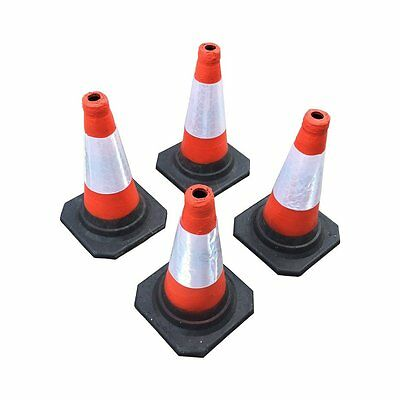 "(PACK OF 4) Road Traffic cones 18"" (450mm) Self weighted safety cone"
