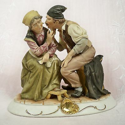 Porcelain Couple in the Capodimonte Style by Bruno Merli, 7 in, 1960s – 1970s