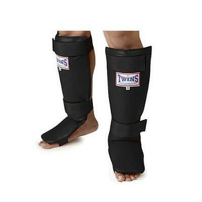 Twins Special Shin Guard & instep Protection Black SGS-1 - MMA UFC MUAY THAI