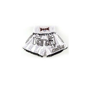 Boon Muay Thai Warrior White Buakaw Shorts Kick Boxing MMA UFC