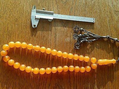 Amber Bakelite  Kehribar Faturan Prayer Beads Ottoman Original Perfect Colour