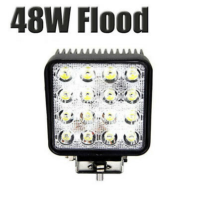 2x 48W Cree LED Work Light Bar Driving Lamp Flood Truck Offroad UTE 4WD