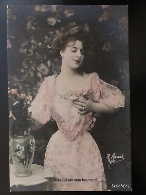 French Romance: Ce qui cause mon tourment.... / My Heart Says / Roses c1903 UB