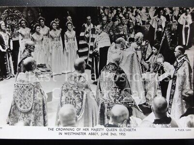 Tuck RP Queen Elizabeth ll Coronation THE MOMENT OF CROWNING 2nd June 1953 C11