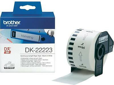 Brother DK-22223 P-touch Continuous Paper Tape 50mm x 30.5m White Genuine