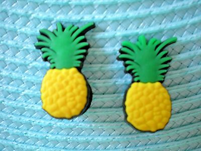 Clog Shoe Charm Plug Button For Wristband Pineapple For Accessorie