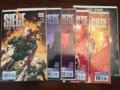 Marvel comics Avengers: Siege mini series 1 - 4 + one-shot + epilogue