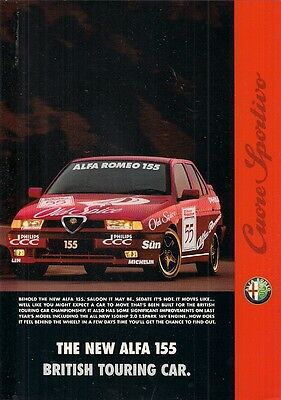 Alfa Romeo 155 Touring Car Livery 1995-96 UK Market Foldout Sales Brochure
