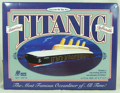 NEW SEALED Mind Walk Legends of the Sea Inflatable Motorized RMS Titanic Model