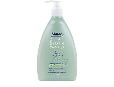 Mater Baby Wash: specifically formulated for newborn skin, soap-free, tear-free