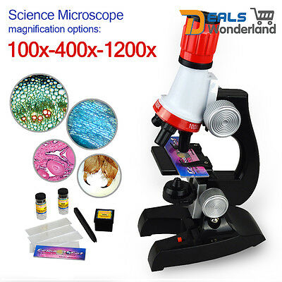Kids Science Microscope Set Science Toys 100x 400x 1200x