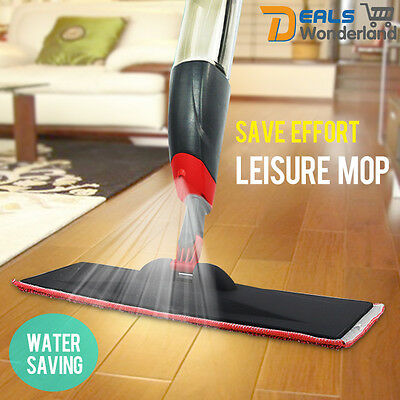 New Spray Microfiber Flat Mop Cleaner Home Floor Bath Kitchen Sweeper Broom