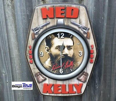 NED KELLY CLOCK | Man Cave | Mens Gift, Every bar needs a clock...