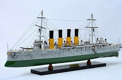 "Varyag Protected Cruiser 32"" - Handmade Wooden Warship Model NEW"