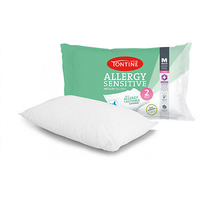 Tontine Allergy Sensitive 2 Pack Medium Pillow Machine Washable Date Stamped