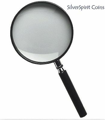 Magnifying Glass with Handle 50 mm Magnification 4 X Lighthouse for use Coins
