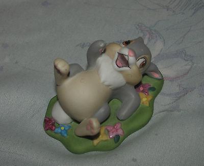 "Disney Grolier Bambi Thumper Ceramic Porcelain Figure Statue  2"" inches"
