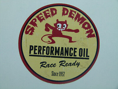 "Oldschool Aufkleber "" Speed Demon "" Devil US Car Sticker / V8 Muscle Car USA"