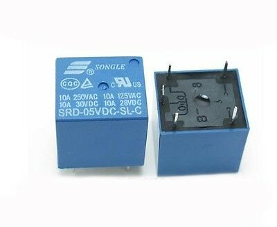5PCS Original SONGLE SRD-05VDC-SL-C Power Relay T73-5V DC 5V 10A 5 Pin