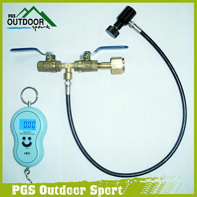 Paintball Deluxe Dual Valve Co2 Fill Station+ Scale Free Shipping