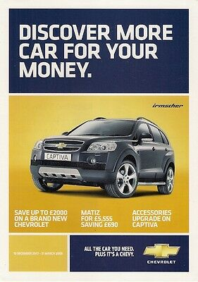 Chevrolet Special Offers December 2007-March 2008 UK Market Sales Brochure