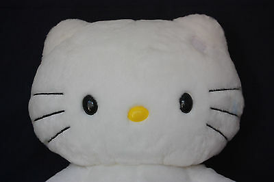 """Build A Bear 2010  Hello Kitty Sanrio White Cat With Voice """"Meow"""" Loves St. Jude"""