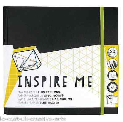 Derwent Graphik Line Painter  Inspire Me Book Medium 80 Sheets Marker Pen Pads