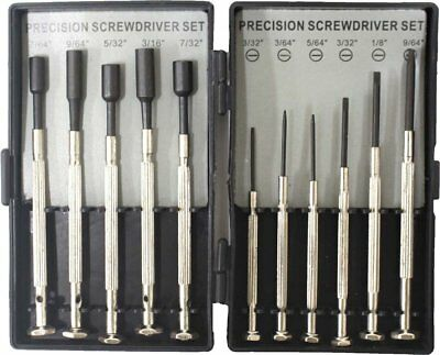 11 Piece Precision Screwdriver and Nut Driver Set with Storage Case