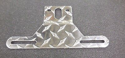 Aluminum Diamond Plate Boat Trailer License Plate Holder