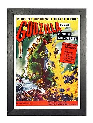 Godzilla 3512 Japanese Classic Movie Film Lizard Prehistoric Sea Monster Poster