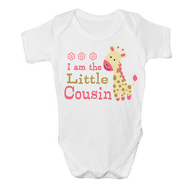 I am the Little cousin Baby Vest gift cute grow Funny bodysuit boy girl New Gift