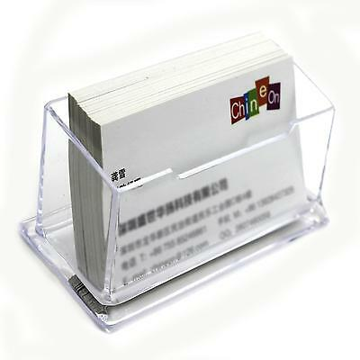 Office Table Clear Desktop Desk Business Card Holder Box Acrylic Stand Display