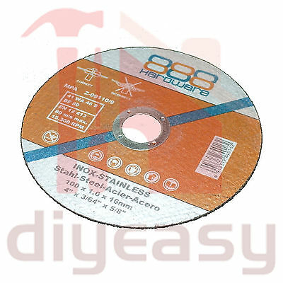 """25 x 100mm 4"""" Cutting Discs Wheel Angle Grinder Cut Off Metal Steel Stainless"""