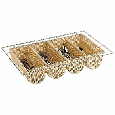 Rattan Cutlery Dispenser Tray Basket - GN 1/1 100(h)xx325(w)x530(d)mm