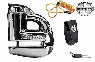KRYPTONITE MOTORBIKE / SCOOTER KEEPER DISC LOCK 5s - CHROME WITH REMINDER CABLE
