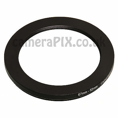 67mm to 52mm Male-Female Stepping Step Down Filter Ring Adapter 67-52 67mm-52mm