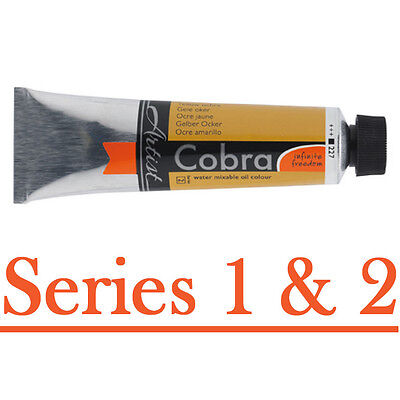 Cobra 40ml watersoluble oil paint - series 1 and 2