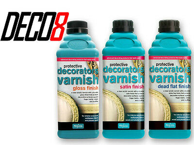 Polyvine Decorators Varnish Satin, Gloss & Dead Flat Finish 500ml - 1L - 2L - 4L