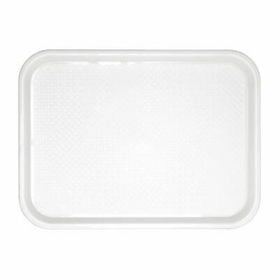 Kristallon Foodservice Tray in White with Textured Surface - 345x265mm
