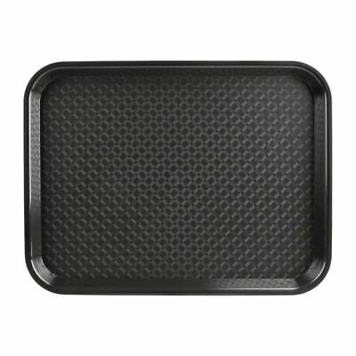 Kristallon Large Fast Food Tray in Black - Stackable - 305 x 415 mm