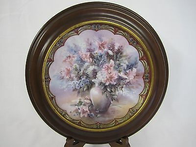 Collectors Plate Lena Liu Mischief Masters  Flower Fairies Collection in Frame
