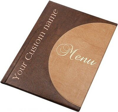 30 X MENU COVER A4 holder 6 pockets catering personalised menu folder RESTAURANT