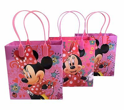 (24ct) Disney Minnie Mouse Party Favor Supplies Goodie Loot Gift Bags