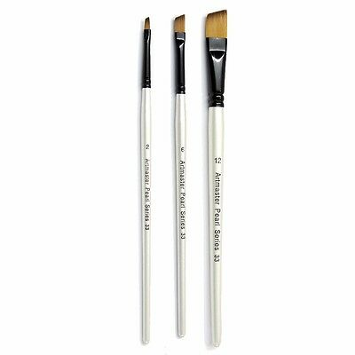 Artmaster Pearl Artist Watercolour Paint Brush - Angle I 6 Sizes Available