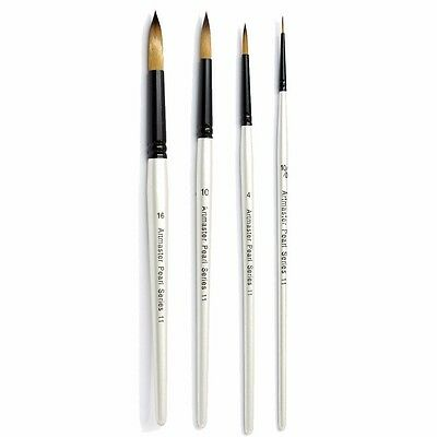 Artmaster Pearl Artist Watercolour Paint Brush - Round I 12 Sizes Available