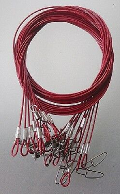 WIRE TRACE LEADER 316 STAINLESS WIRE , RED NYLON COATED, 50 cm, 50 kg rated