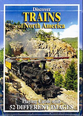 Discover Trains of North America Playing Cards * Photographs, Descriptions NEW!