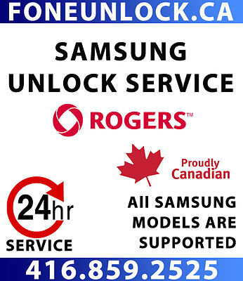 UNLOCK Rogers Samsung within 24 hours - GUARANTEED!